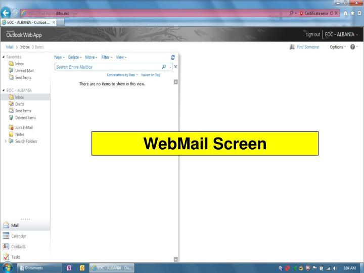 WebMail Screen