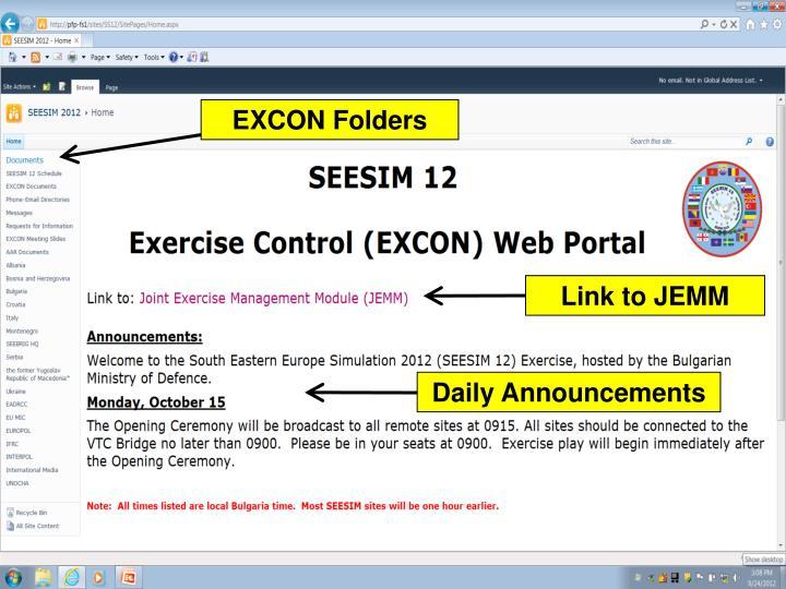 EXCON Folders