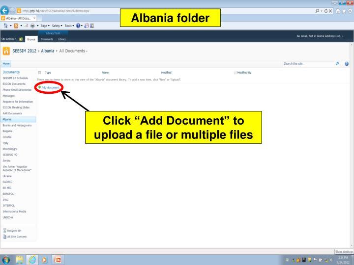 Albania folder
