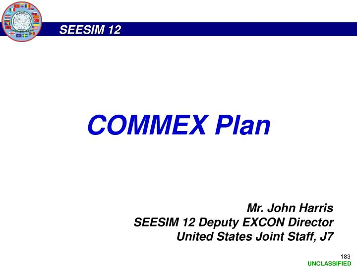 COMMEX Plan