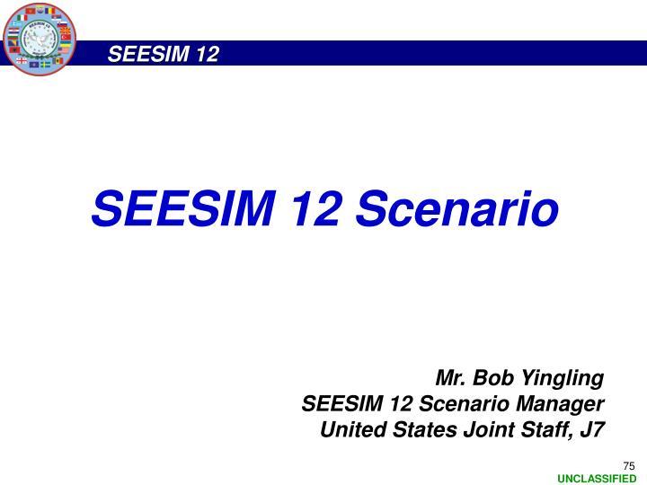 SEESIM 12 Scenario