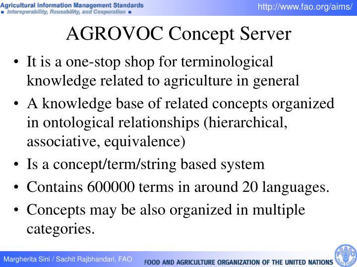 AGROVOC Concept Server