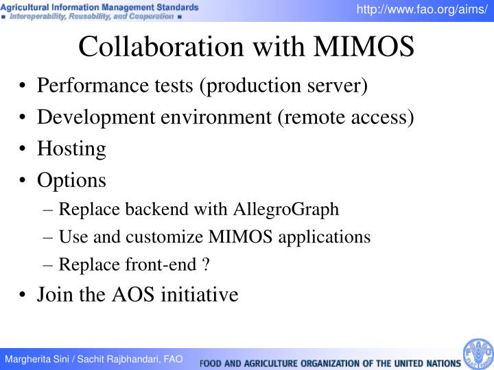 Collaboration with MIMOS