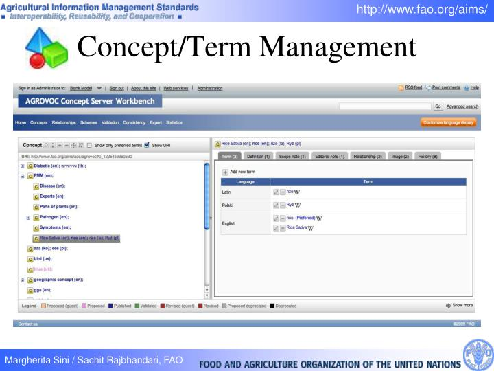Concept/Term Management