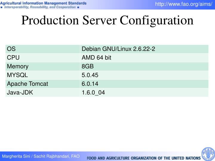 Production Server Configuration
