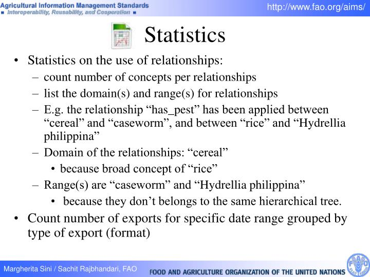 Statistics on the use of relationships: