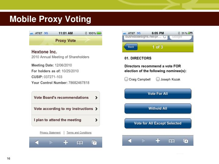 Mobile Proxy Voting