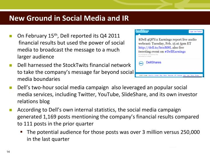 New Ground in Social Media and IR