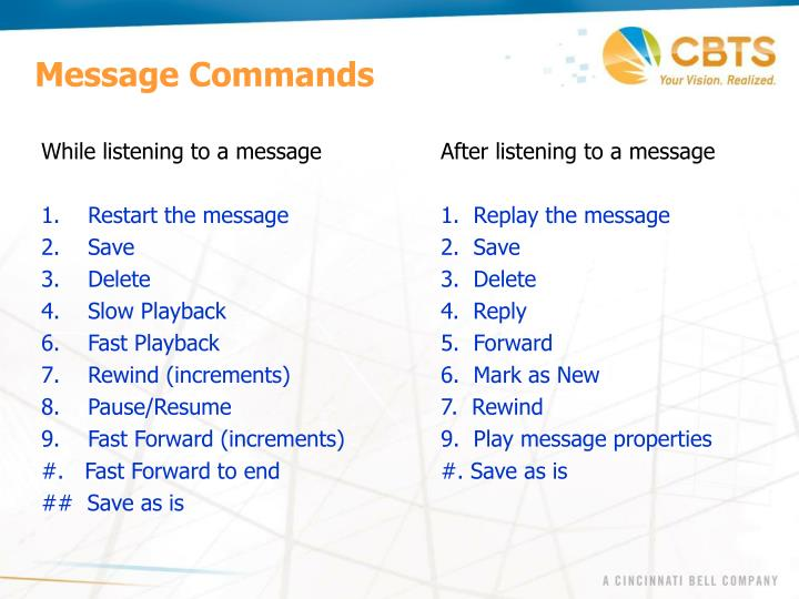 Message Commands
