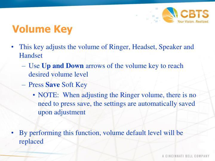 Volume Key