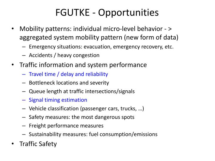 FGUTKE - Opportunities