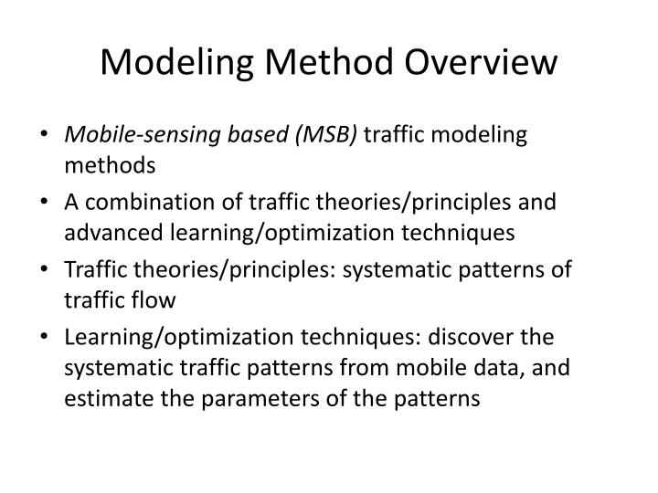 Modeling Method Overview