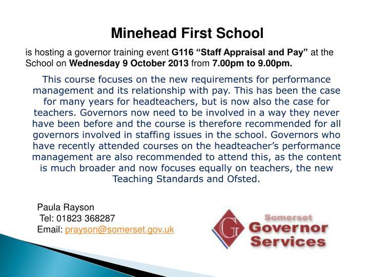 Minehead First School