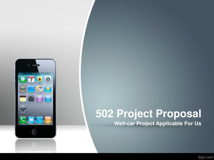 502 project proposal