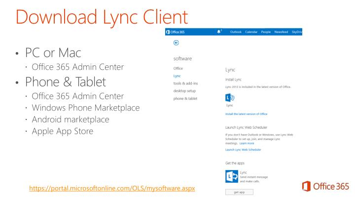 Download Lync Client