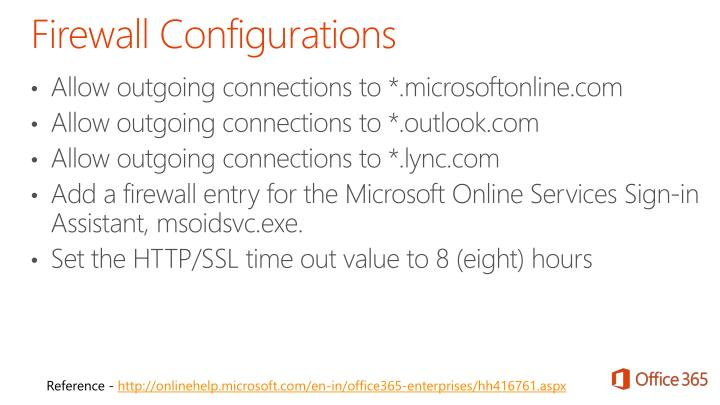 Allow outgoing connections to *.microsoftonline.com