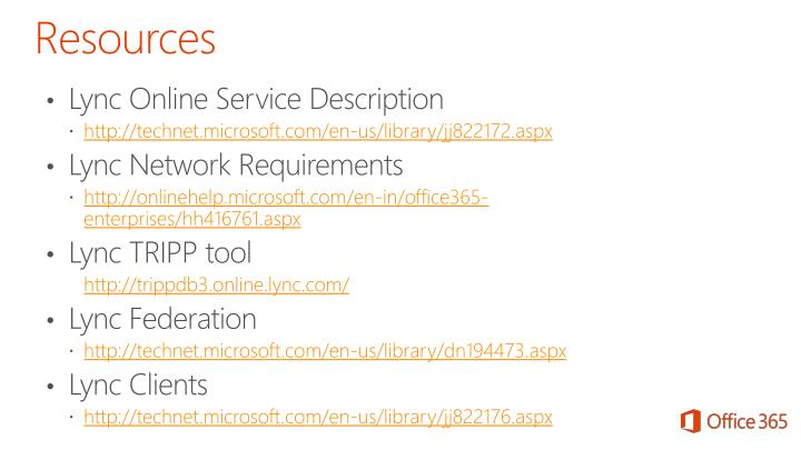 Lync Online Service Description
