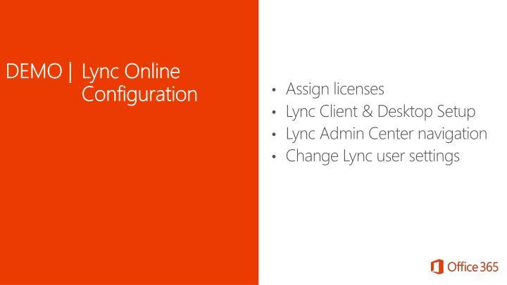DEMO | Lync Online Configuration