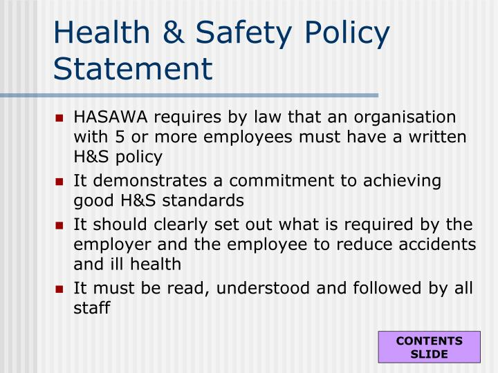 Health & Safety Policy Statement