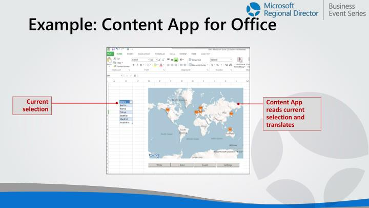 Example: Content App for Office