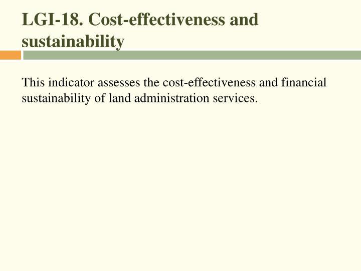 LGI-18. Cost-effectiveness and sustainability