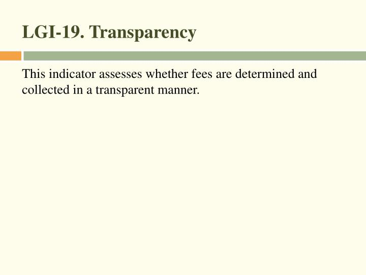 LGI-19. Transparency