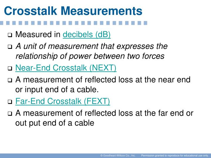 Crosstalk Measurements