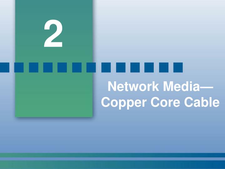Network media copper core cable