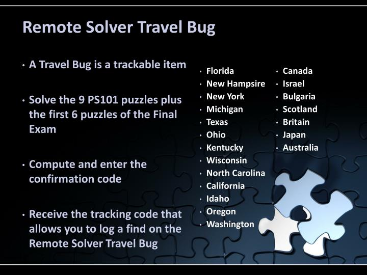 Remote Solver Travel Bug