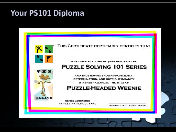 Your PS101 Diploma