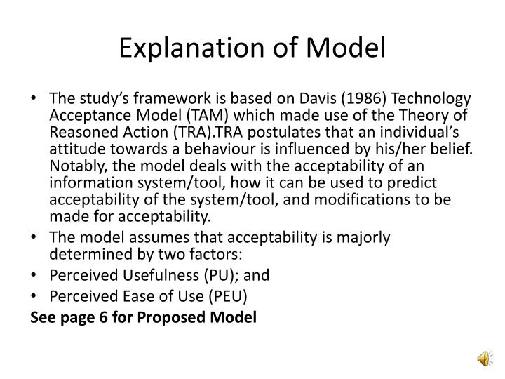 Explanation of Model