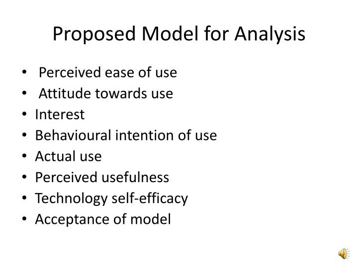 Proposed Model for Analysis