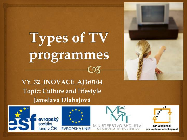 Types of tv programmes