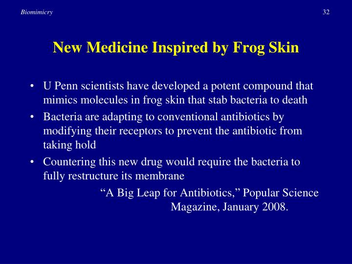 New Medicine Inspired by Frog Skin
