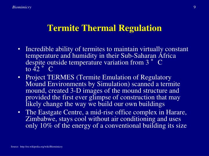 Termite Thermal Regulation