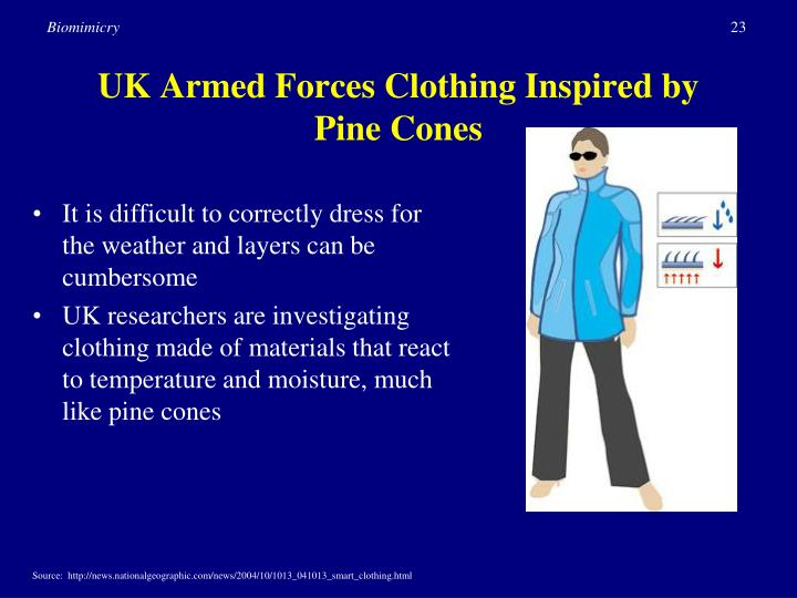 UK Armed Forces Clothing Inspired by Pine Cones