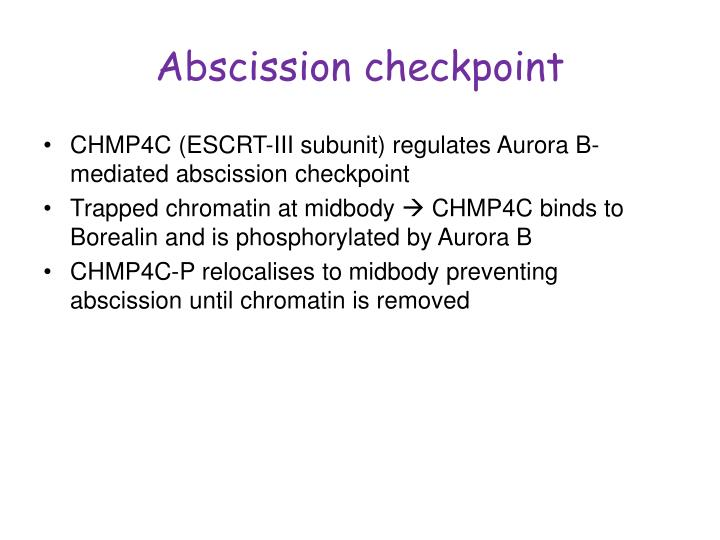 Abscission checkpoint