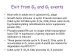 exit from g 0 and g 1 events1