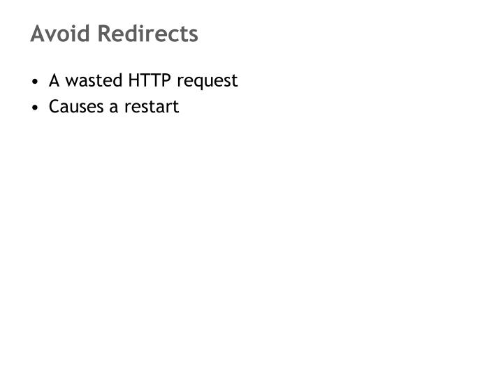 Avoid Redirects