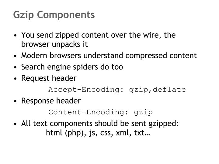 Gzip Components