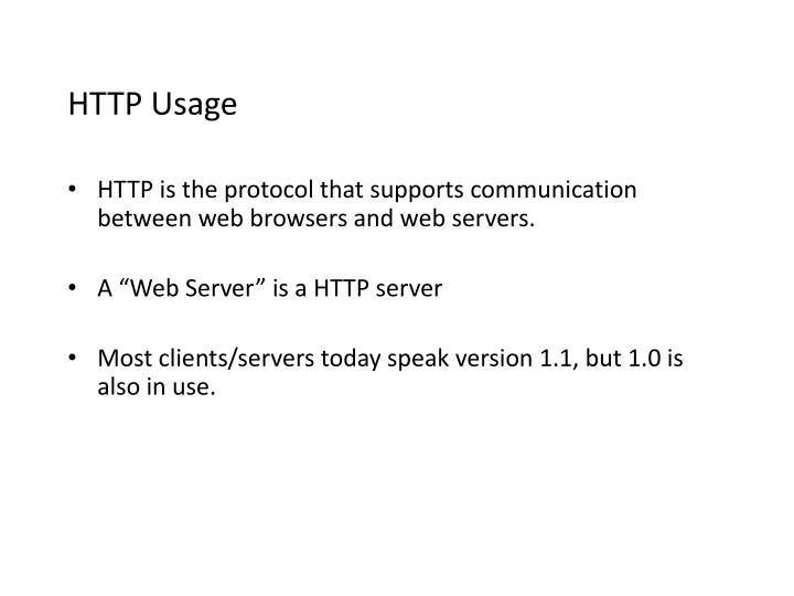 HTTP Usage