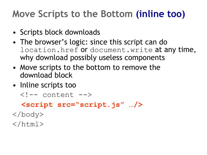 Move Scripts to the Bottom