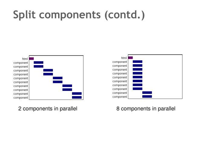 Split components (contd.)