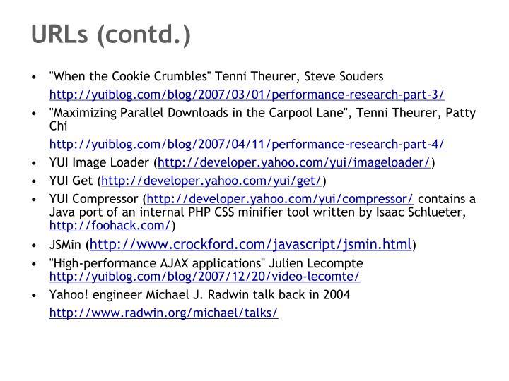 URLs (contd.)