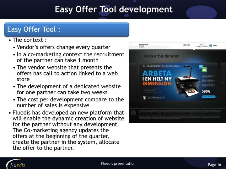 Easy Offer Tool development