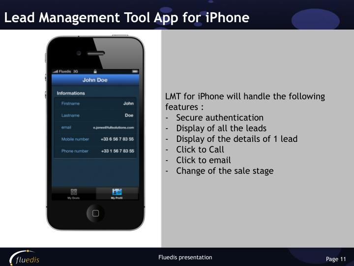 Lead Management Tool App for iPhone