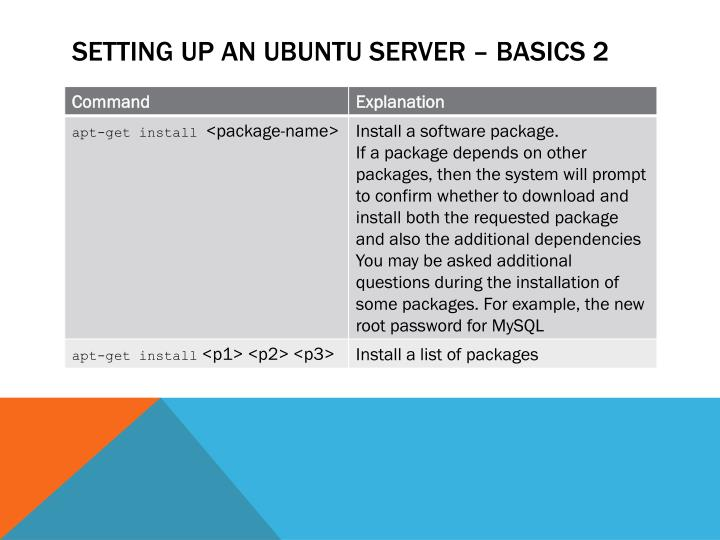 Setting up An Ubuntu server – Basics 2