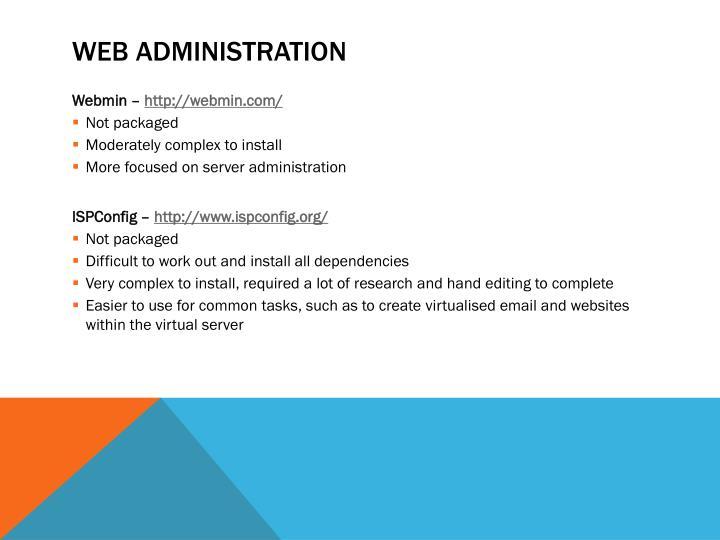 Web administration