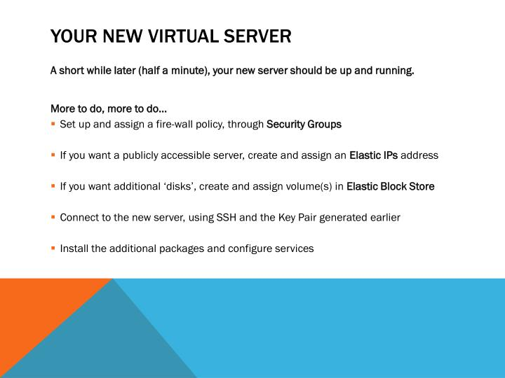 Your new Virtual Server
