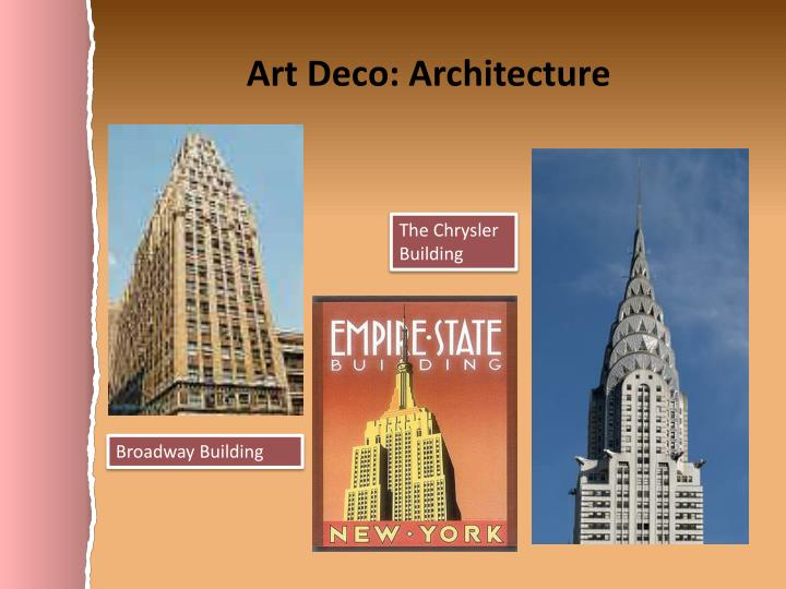 Art Deco: Architecture